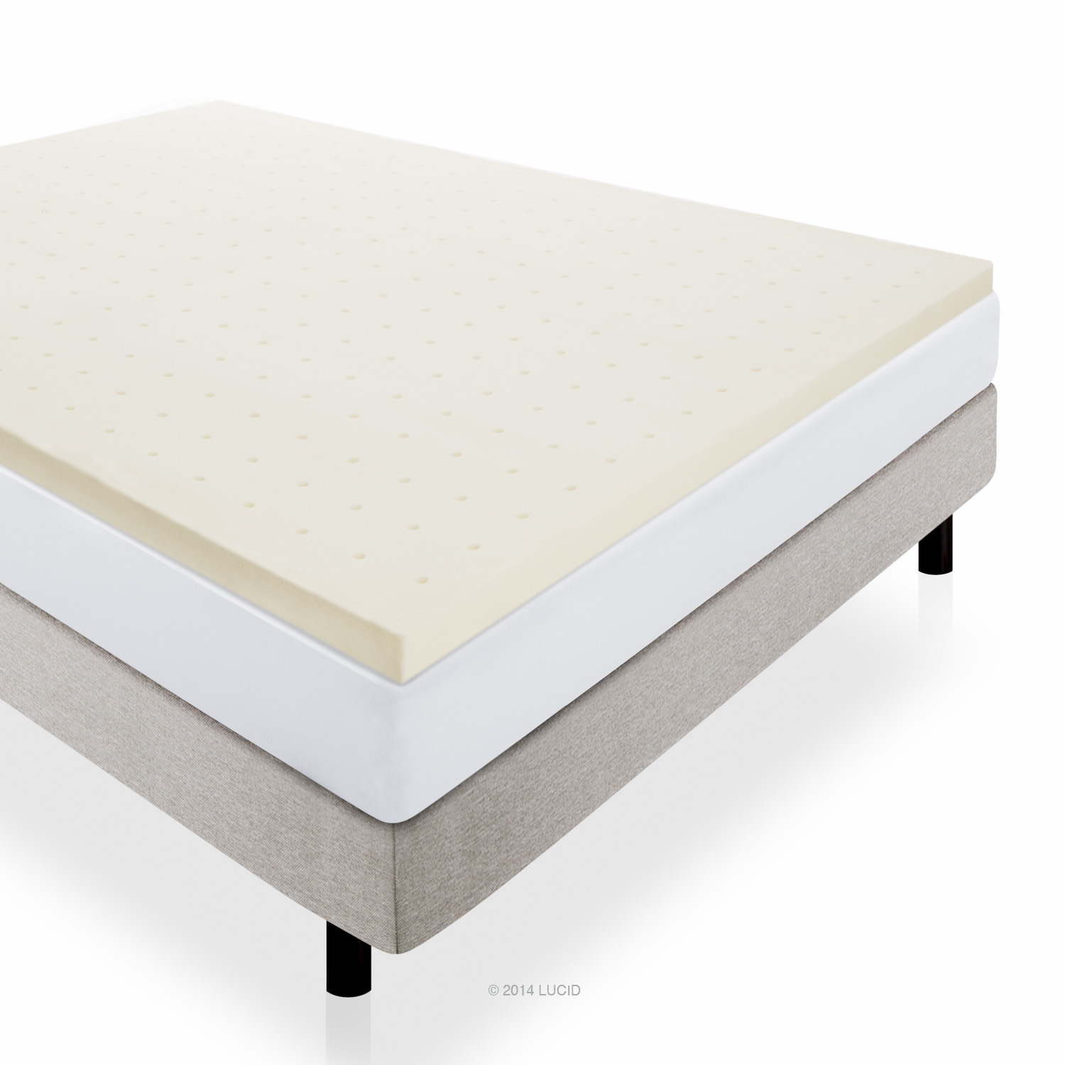 Lucid 2 Ventilated Memory Foam Mattress Topper Multiple Sizes