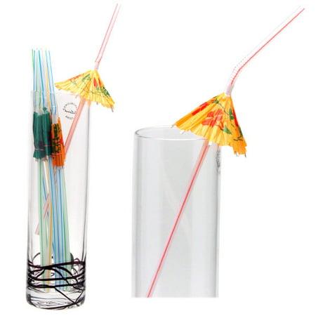 - Paper Parasol Umbrella Straws - Dozen