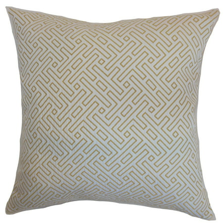 "The Pillow Collection Qalanah Geometric 24"" x 24"" Down Feather Throw Pillow Hayride"
