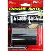 TRIMBRITE T1818 Multi Purpose Tape, Silver Chrome, 3 In. X 5 Ft.