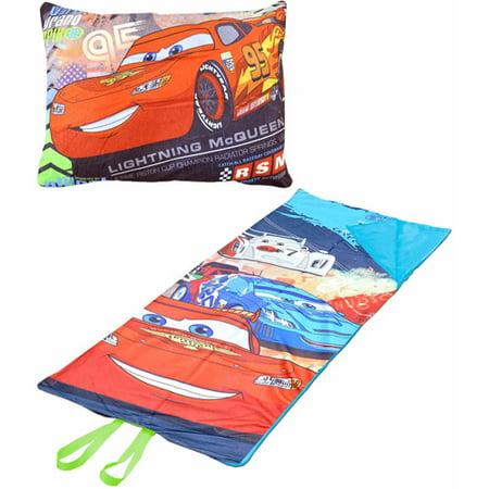 - Disney Cars On-the-Go Pillow Convertible Slumber Nap Mat
