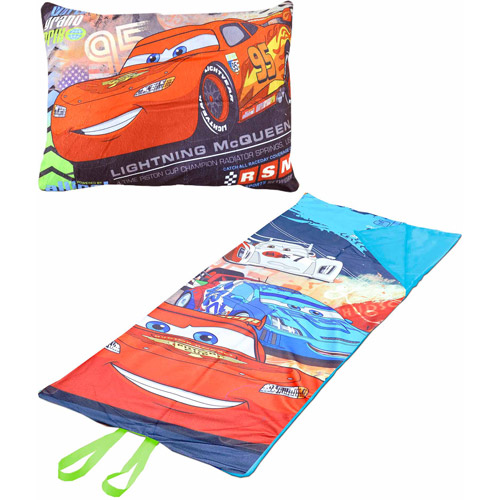 Disney Cars On-the-Go Pillow Convertible Slumber Nap Mat