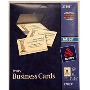 AveryR Ivory Matte Business Cards For Inkjet Printers 27883 Pack Of 100