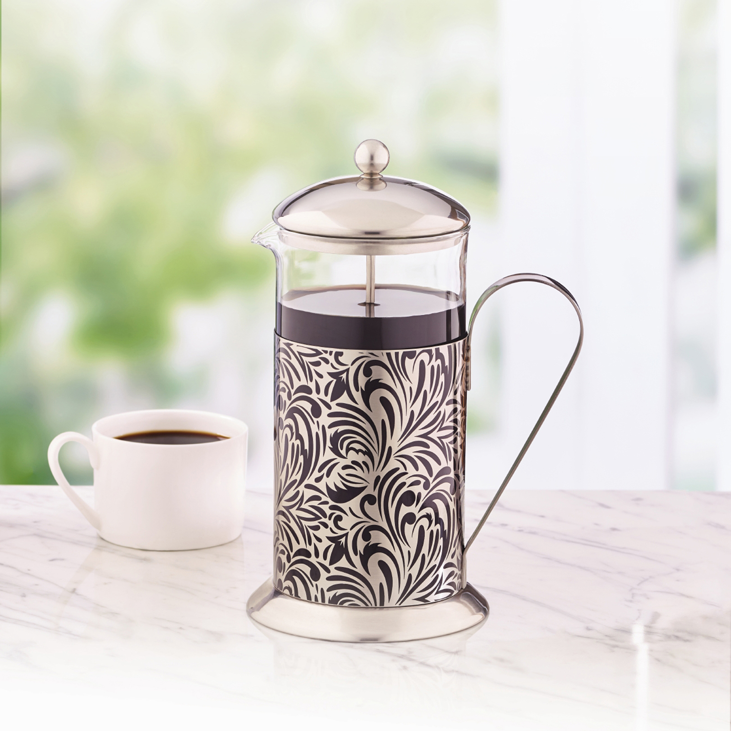 La Cafetiere Floral 8 Cup French Press Non Electric Coffee Maker