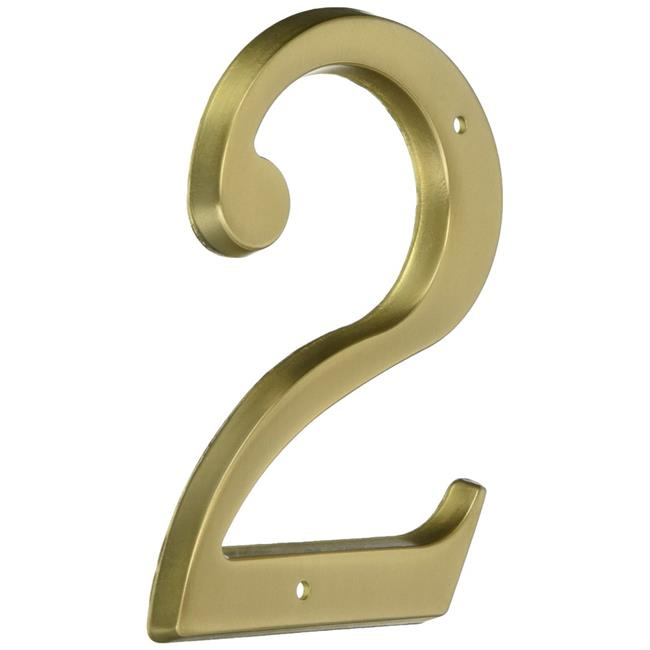 Baldwin  90672  Address Numbers  House Number  Home Accents  2  ;Vintage Brass