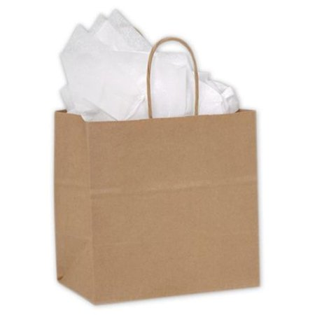 Kraft Shoppers (Bags & Bows by Deluxe 15-080508-8 Kraft Paper Shoppers Ruby - Case of 250 )