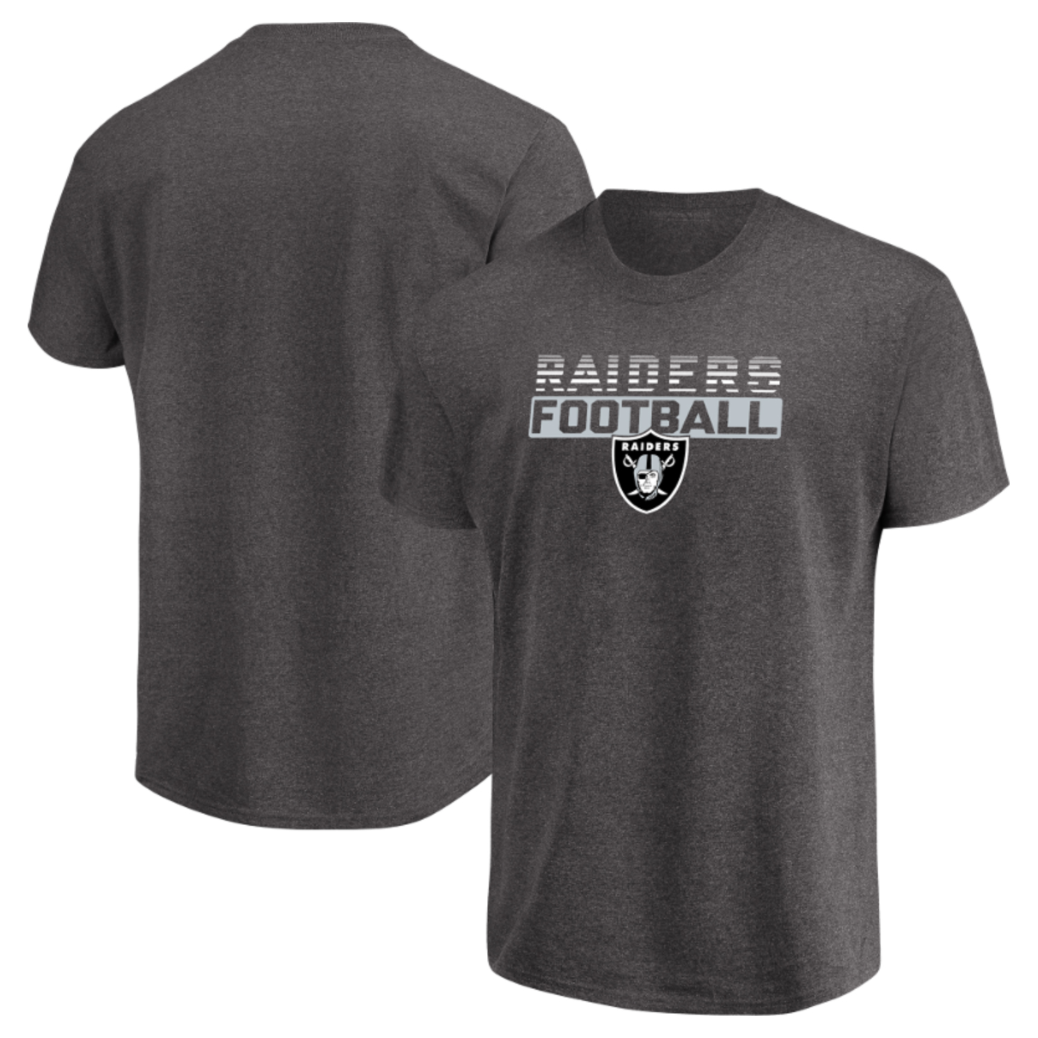 Men's Majestic Heathered Charcoal Oakland Raiders Come Into Play T-Shirt