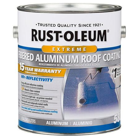 - Rust-Oleum 301905 15 Year Fibered Aluminum Roof Coating gal