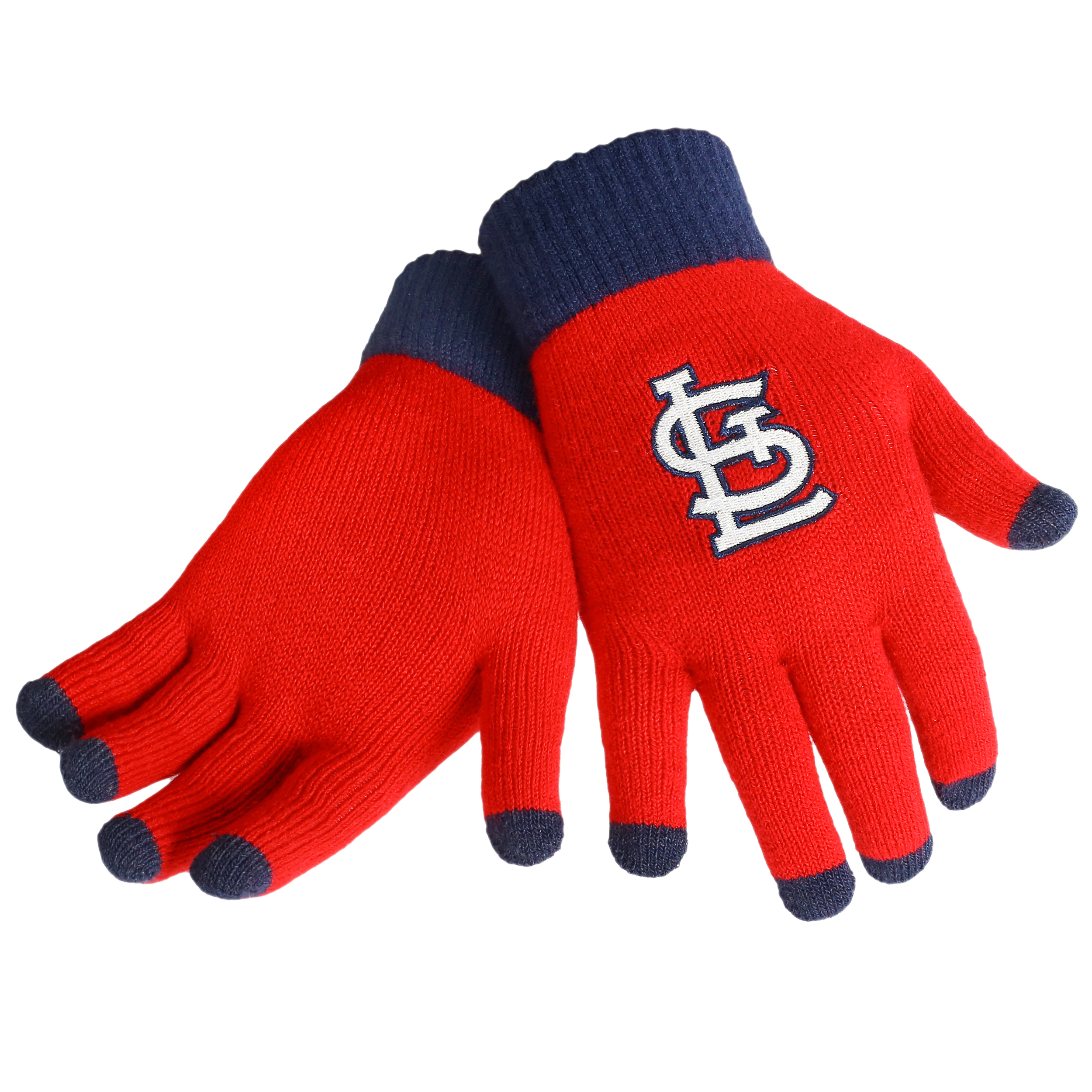 St. Louis Cardinals Official MLB Glove Solid Outdoor Winter Stretch Knit by Forever Collectibles 262183 by Forever Collectibles