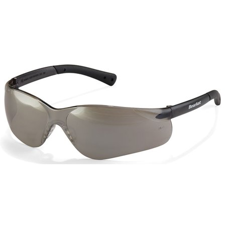 Crews Bearkat 3 Safety Glasses Silver Mirror Lenses Soft Gel Nose Pad
