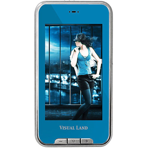 Visual Land V-Touch Pro 4GB Flash Portable Media Player, Assorted Colors