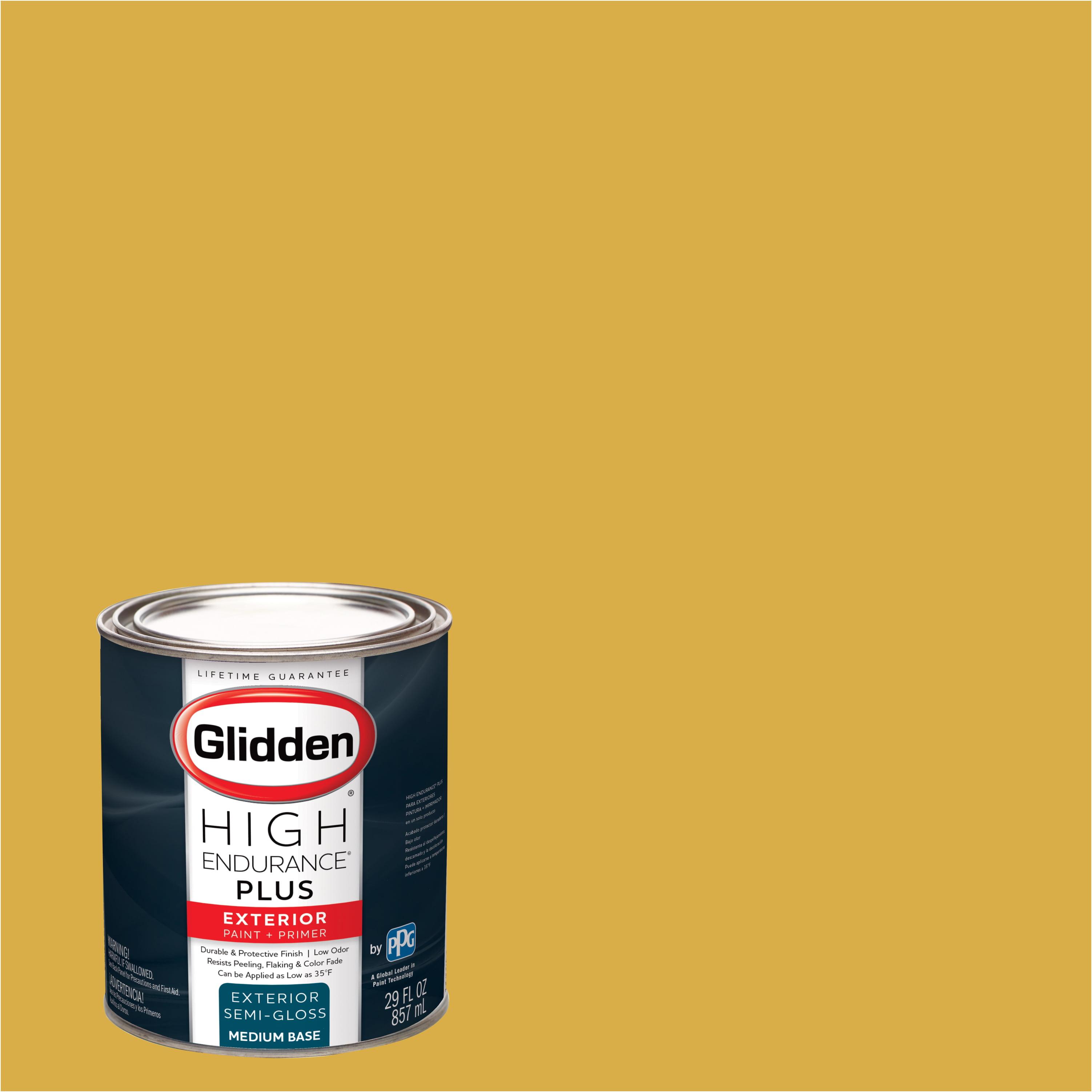 Glidden High Endurance Plus Exterior Paint and Primer, Golden Rae, #30YY 49/562