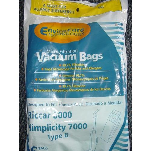 "Simplicity Type ""B"" 7000 Bags- 12 pack"
