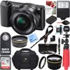 Sony Alpha a5100 HD 1080p Mirrorless Digital Camera Black + 16-50mm Lens Kit + 16GB Accessory Bundle + DSLR Photo Bag + Extra Battery + Wide Angle Lens + 2x Telephoto Lens + Flash + Remote + Tripod E12SNILCE5100LB Sony Alpha a5100 Mirrorless Digital Camera with 16-50mm Lens (Black), 16-50mm f/3.5-5.6 OSS Alpha E-mount Retractable Zoom Lens, NP-FW50 Lithium-Ion Rechargeable Battery (1020mAh), AC-UB10 AC Adapter, Shoulder Strap, Micro USB Cable, Limited 1-Year Warranty BUNDLE INCLUDES:Soft Carrying Case for Cyber-Shot and Alpha NEX Cameras (Black)32GB Class 10 UHS-1 SDHC Memory CardInfoLithium H Series NP-FW50 Spare BatteryPro .43x Wide Angle Lens w/ MacroPro 2x Telephoto Lens Converter40.5mm UV, Polarizer & FLD Deluxe Filter kit (set of 3 + carrying case)40.5mm/58mm Step-up ringCorel PaintShop Pro X812-inch Rubberized Spider Tripod, LargeBounce Zoom Slave Flash Enhance Photos, Colors & SaturationLCD/Lens Cleaning Pen & Microfiber cloth