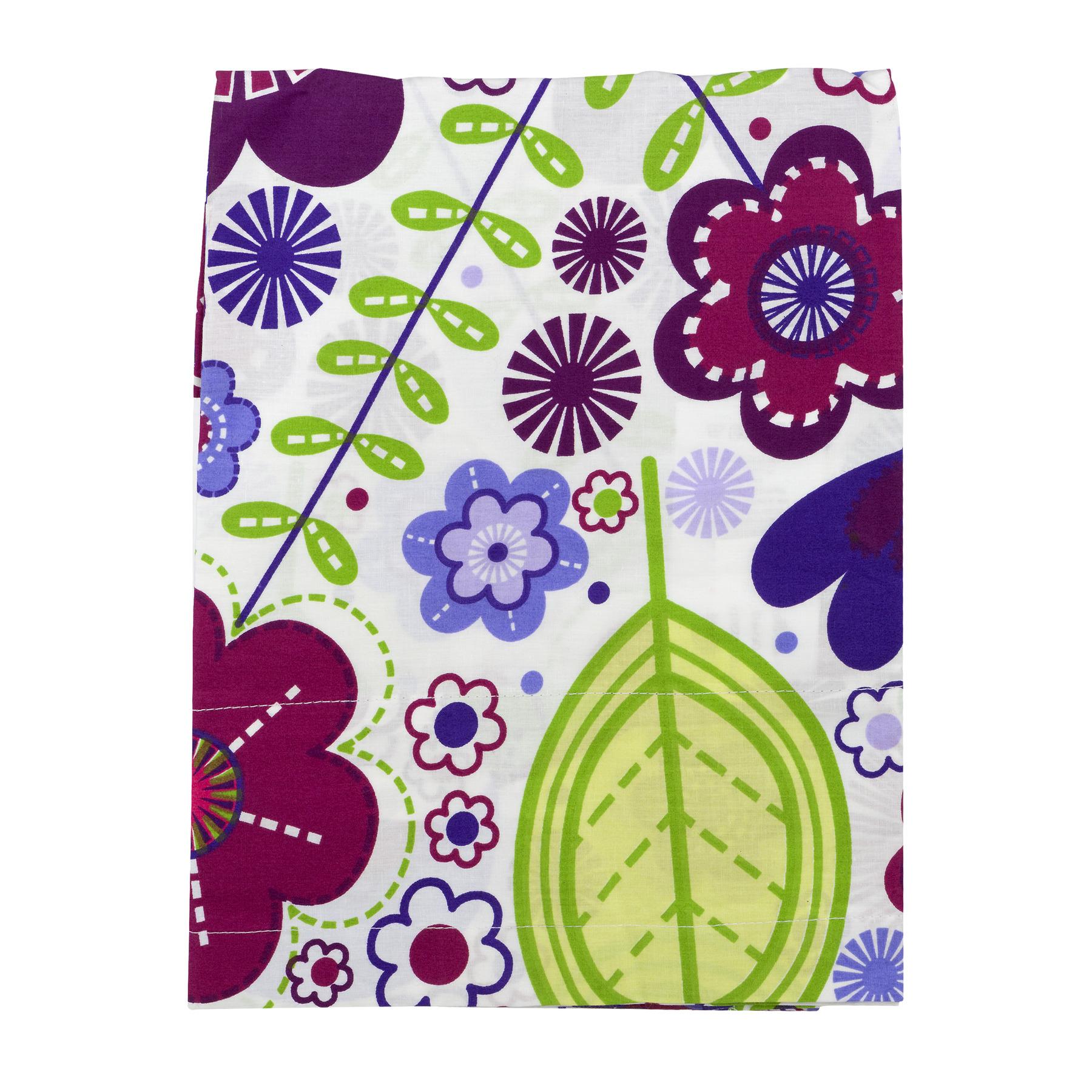 Bacati Curtain Panel Purple Floral Botanical, 1.0 CT