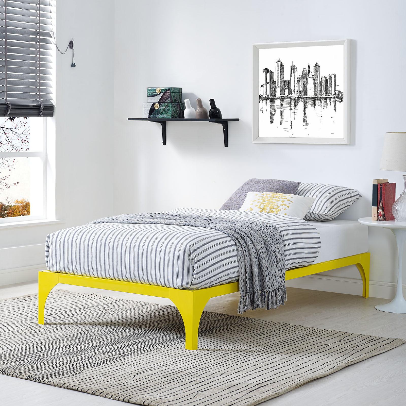 Modway Ollie Steel Platform Bed Frame, Multiple Sizes and Colors