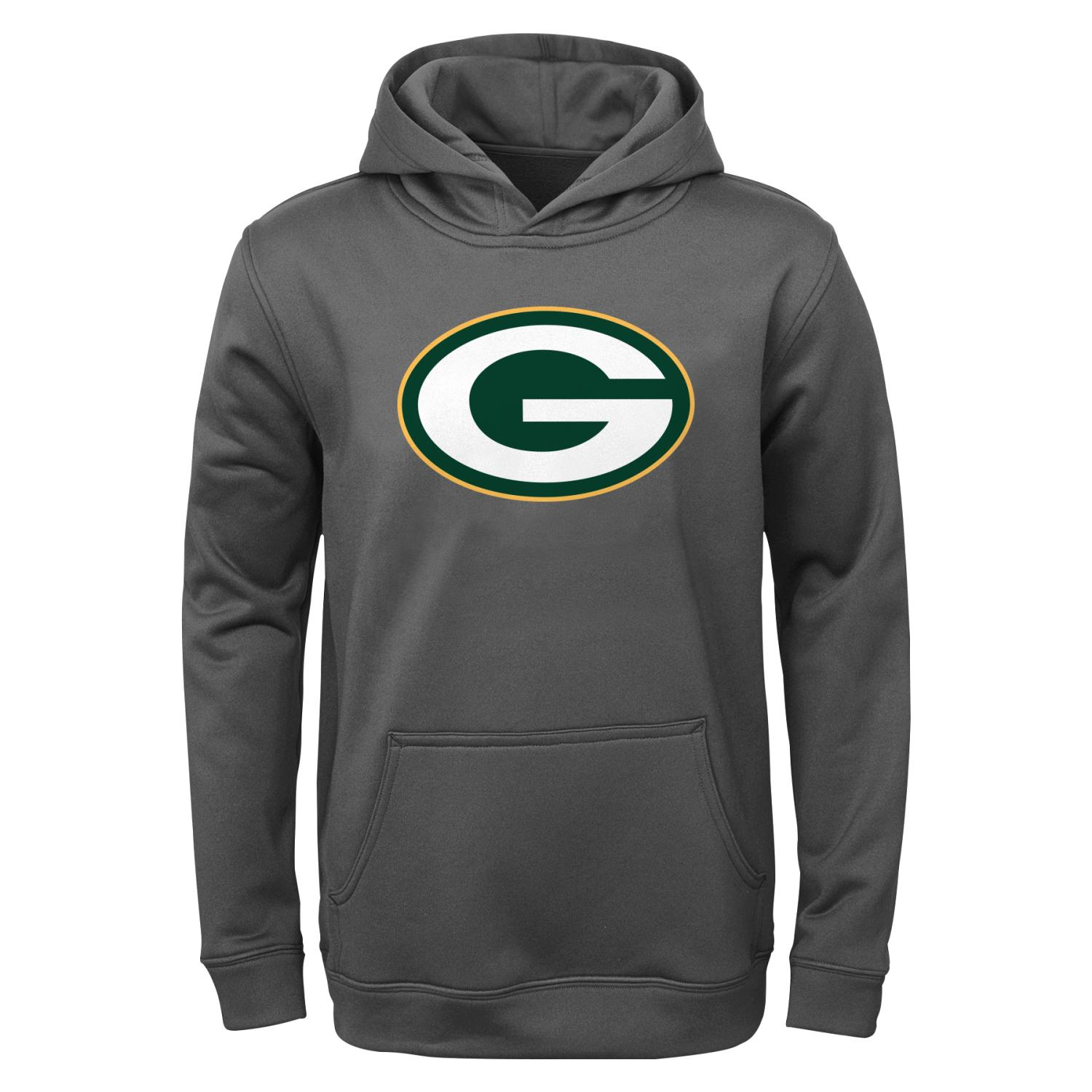 "Green Bay Packers Youth NFL ""Tackle"" Performance Pullover Hooded Sweatshirt"