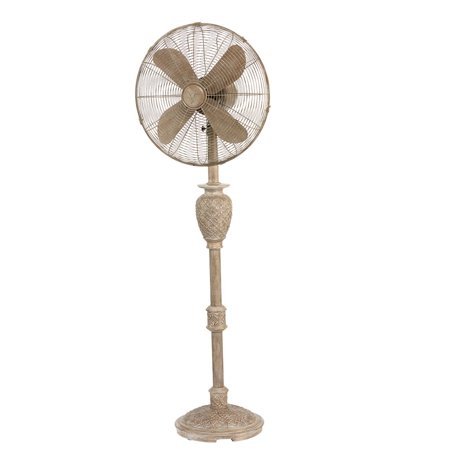 """53"""" Whitewash Weathered Muriel Floor Fan with Decorative Base"""