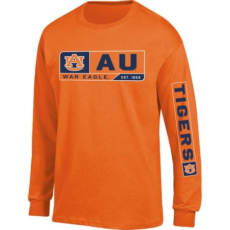 Men's Russell Orange Auburn Tigers Team Long Sleeve (Auburn Tigers Prints)