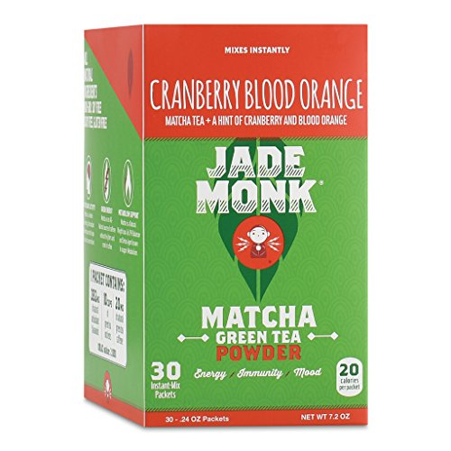 On-The-Go Matcha Green Tea Powder - Enjoy Anytime, Anywhere - All Natural, Mixes Instantly - Perfect For A Busy Lifestyle - Cranberry Blood Orange, 30 Servings