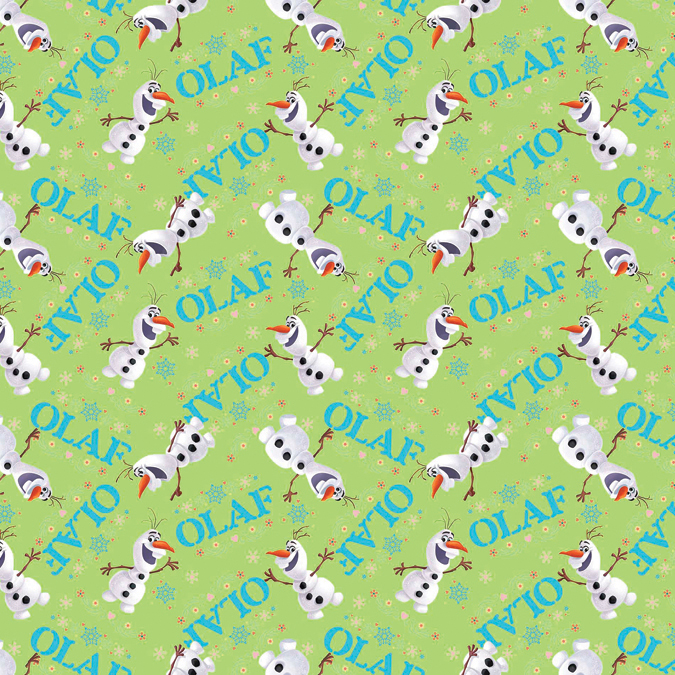"Frozen Olaf Toss 43/44"" Wide 100% Cotton D/R-Olaf Toss"