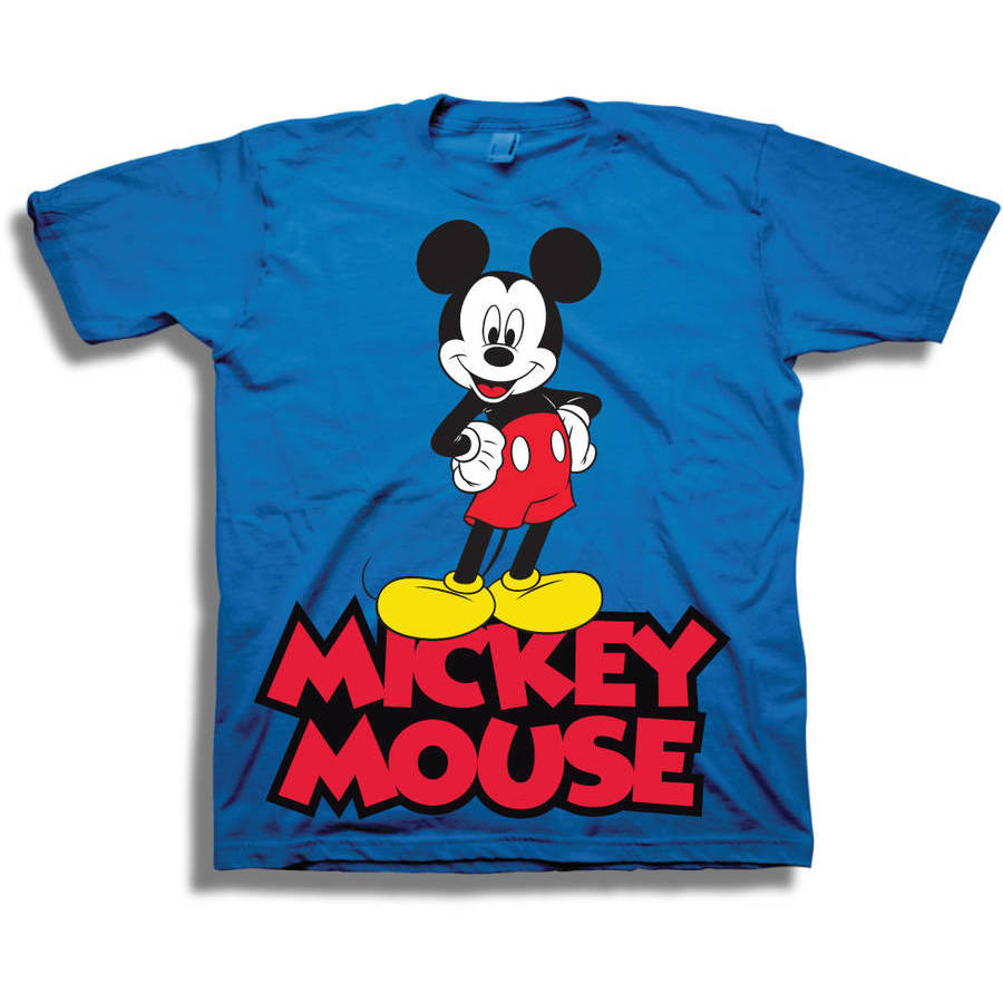 Disney Mickey Mouse Classic Boys' Juvy Short Sleeve Graphic Tee T-Shirt