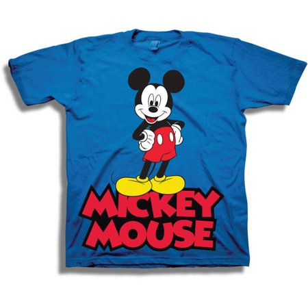 Disney Mickey Mouse Classic Boys' Juvy Short Sleeve Graphic Tee T-Shirt - Disney Boo Halloween Shirt