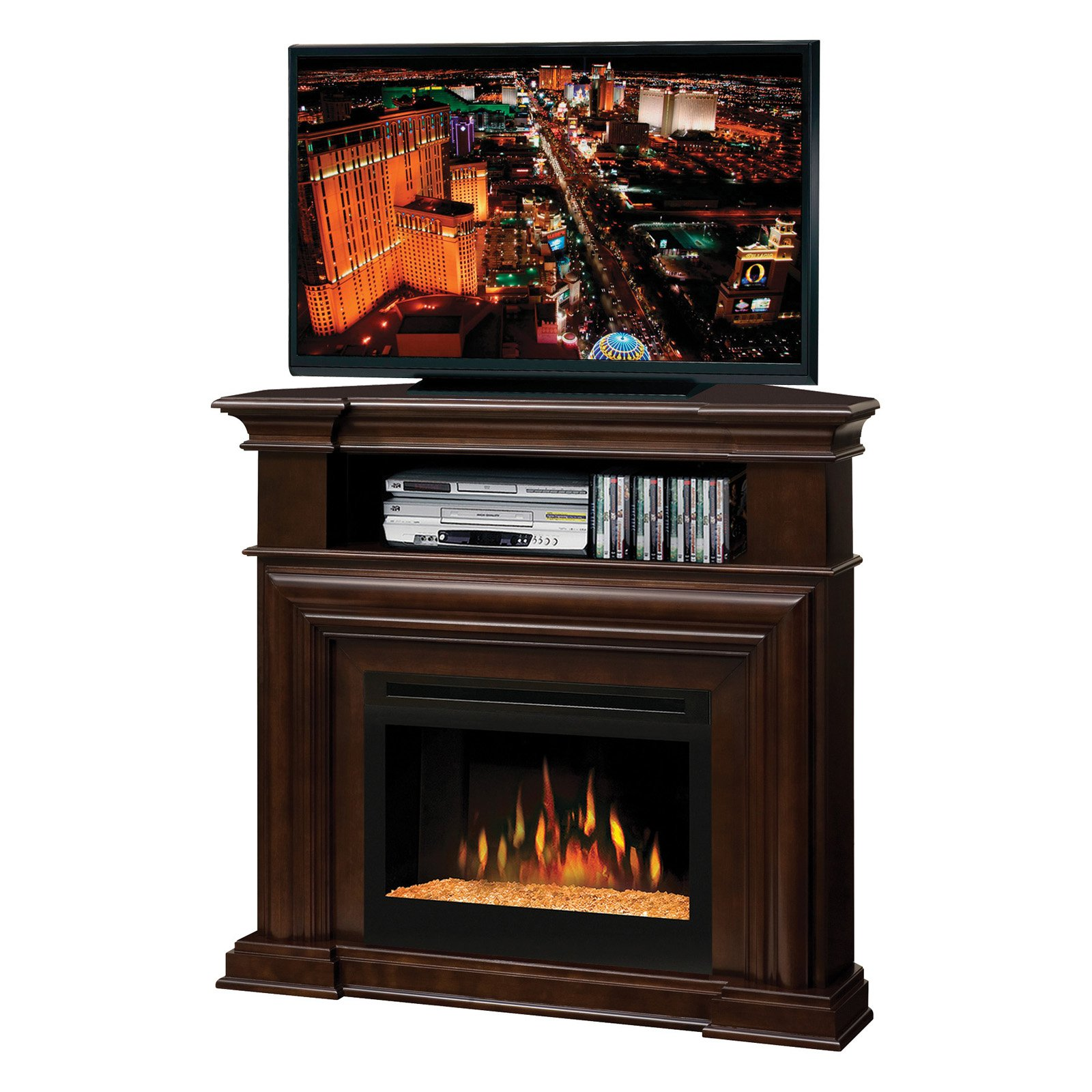 Dimplex Montgomery Corner Entertainment Center Electric Fireplace-Glow Logs