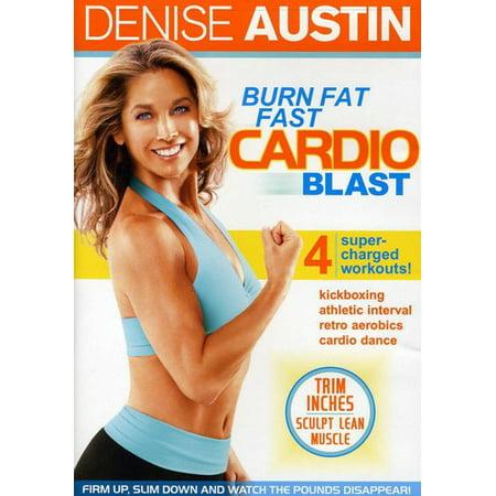 Burn Fat Fast: Cardio Blast (DVD) (Denise Austin Kickboxing Cardio Fat Blast Workout)