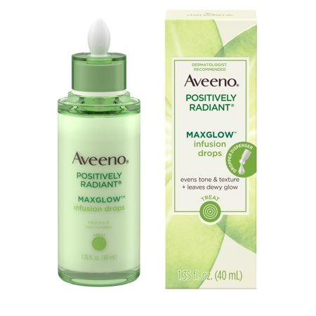 Aveeno Positively Radiant MaxGlow Infusion Drops Serum, 1.35 fl.