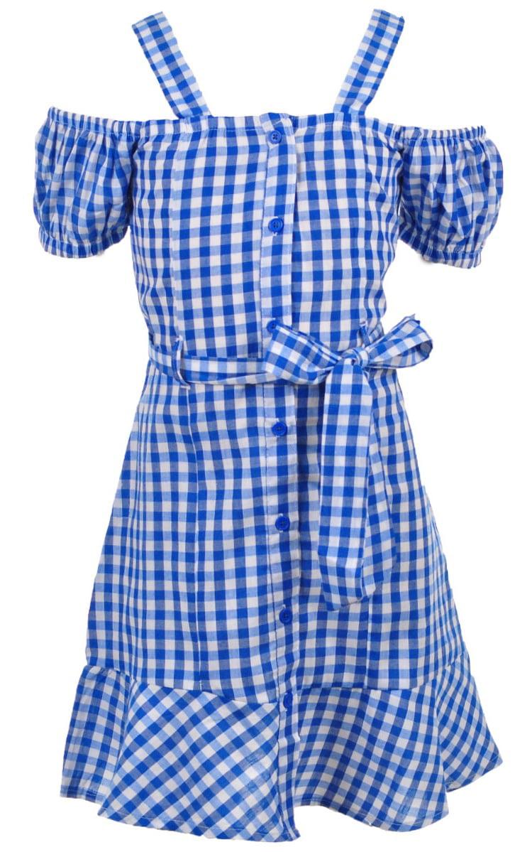 Chillipop Toddler Girls Denim Blue Dress W//Lace Detail Size 2T 4T