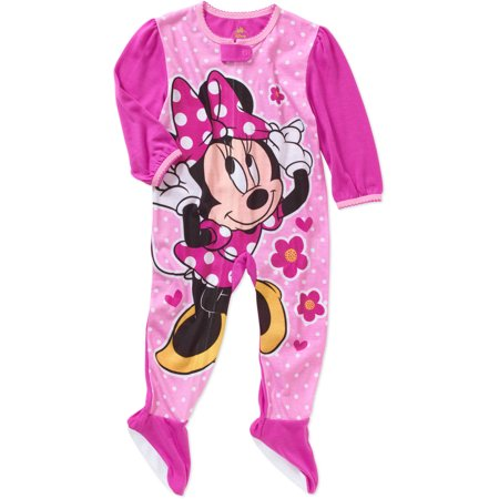 Minnie Mouse - Newborn Infant Baby Girl Footed Blanket Sleeper - Walmart.com e710029ed