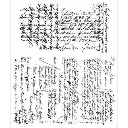"""Tim Holtz Cling Rubber Stamp Set, 7"""" x 8.5"""", Ledger Script"""