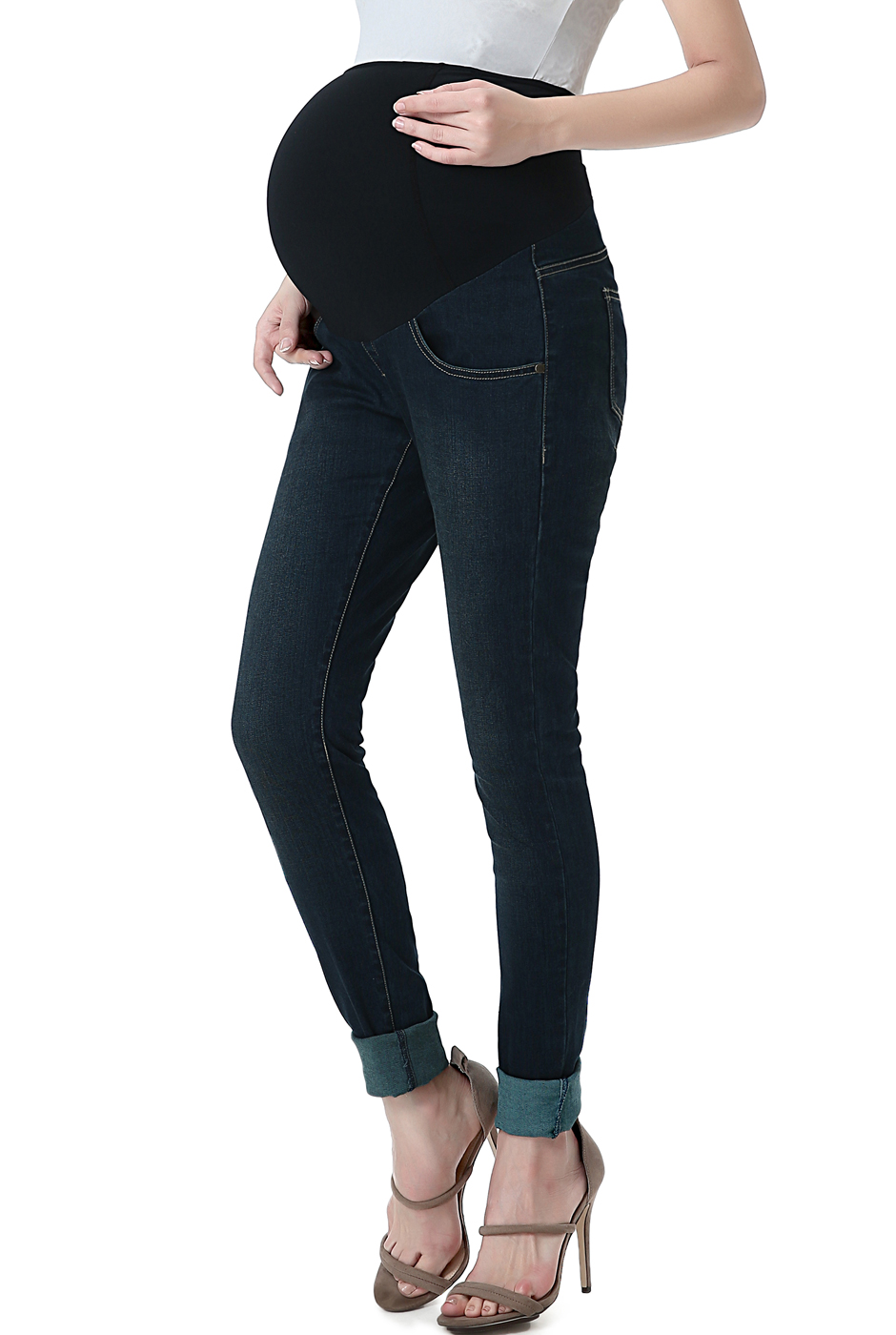 Maternity Women's Skinny Leg Denim Jeans - Rich Indigo 27