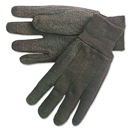MCR Safety Dotted-Palm Cotton Jersey Gloves Clute Pattern Mens - Dotted Palm Gloves