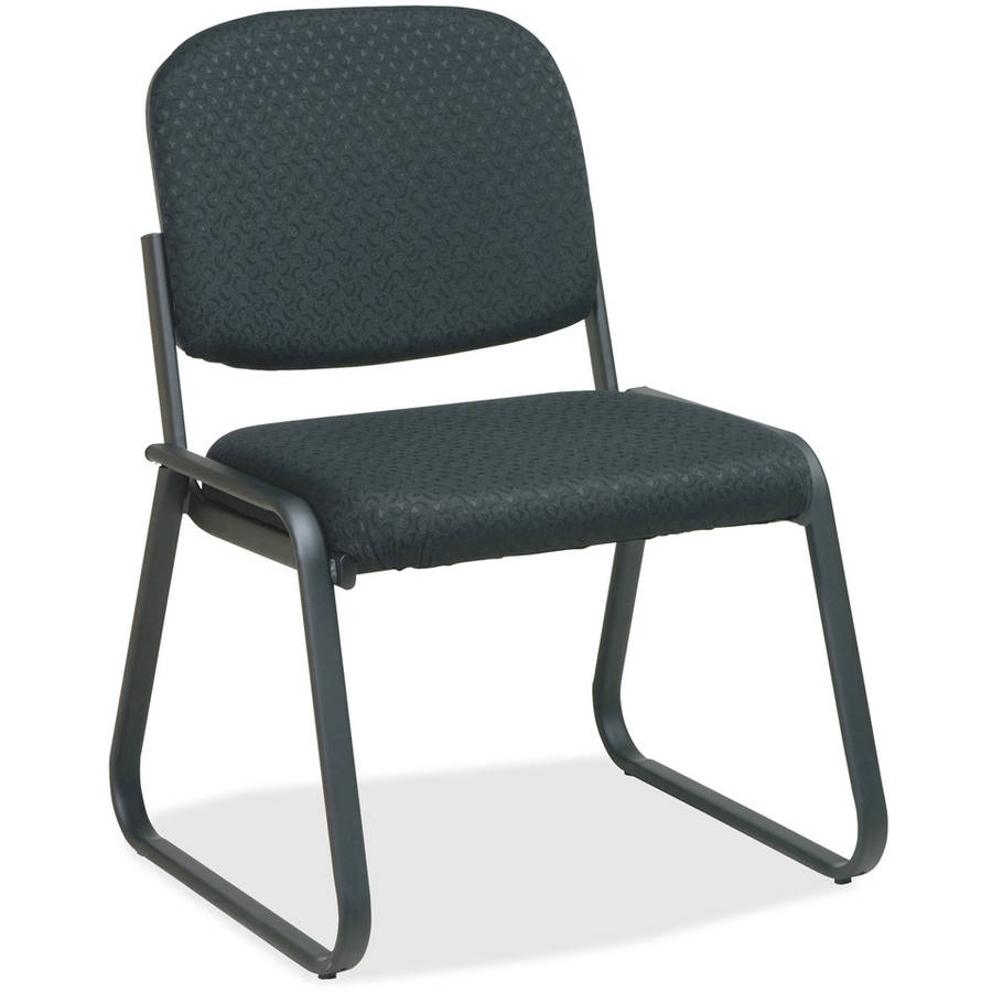 Office Star V4420 Deluxe Sled Base Armless Chair, Midnight