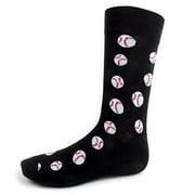 Mens Fun Baseball Woven Crew Novelty Socks