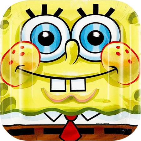 Spongebob Cake Plates (8-pack)