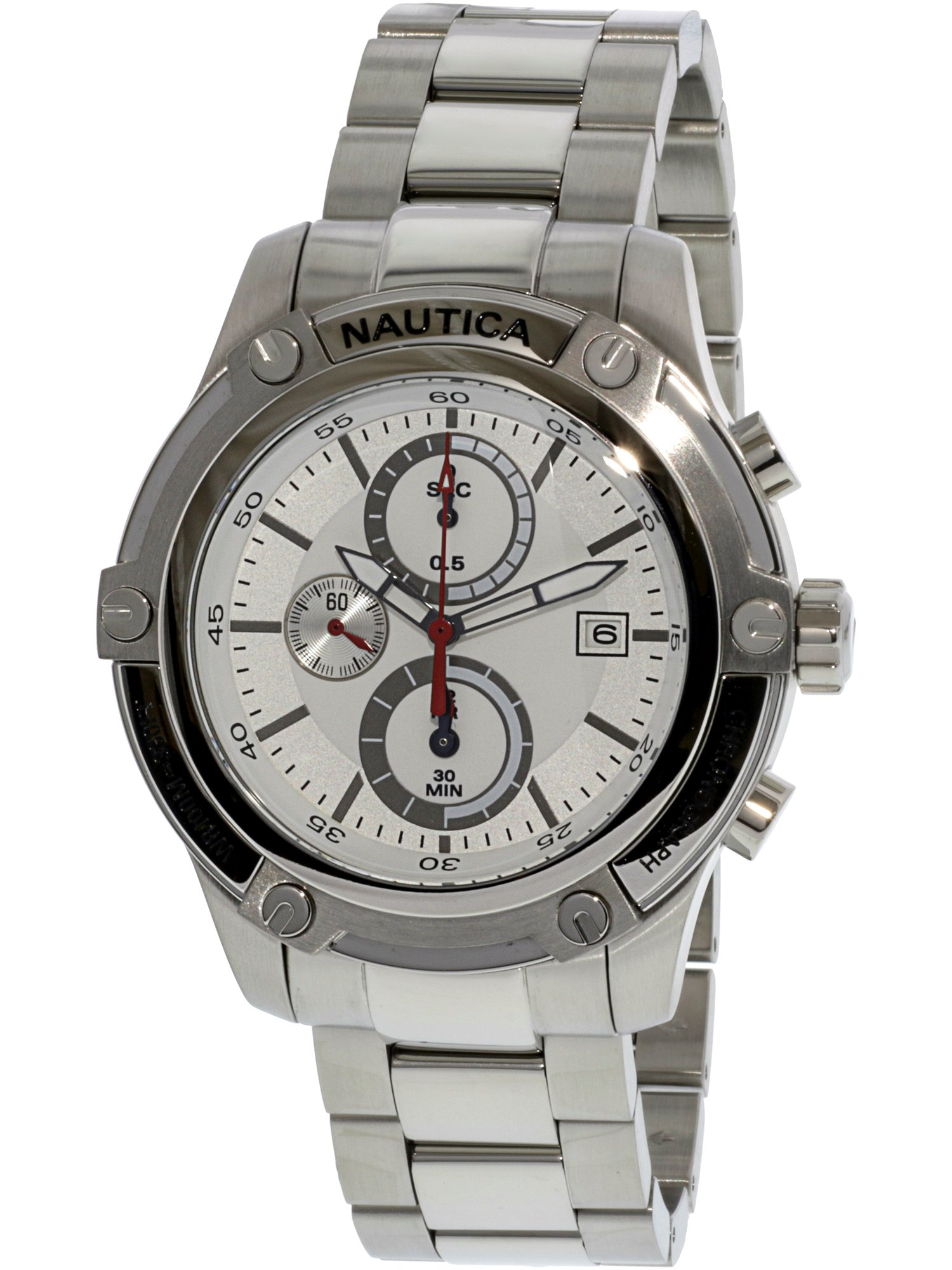 Nautica Men's Nst 05 A20058G Silver Stainless-Steel Japanese Quartz Sport Watch by Nautica