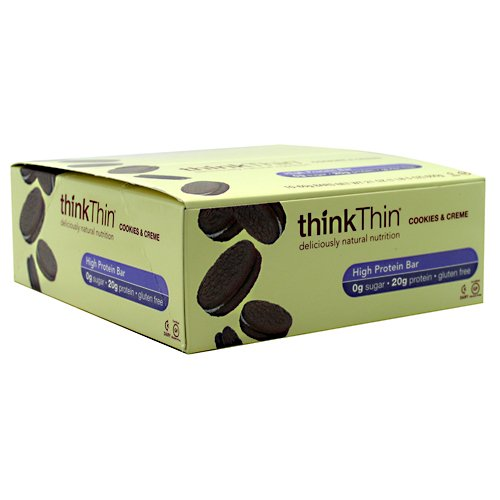 Think Thin Cookies Crm Ca Size 10 Ct Think Thin Cookies & Cream 2.10z