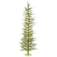 "Vickerman 422618 - 4' x 19"" Lime Green Laser Tree with 70 Lime LED Lights Christmas Tree (B161841LED)"