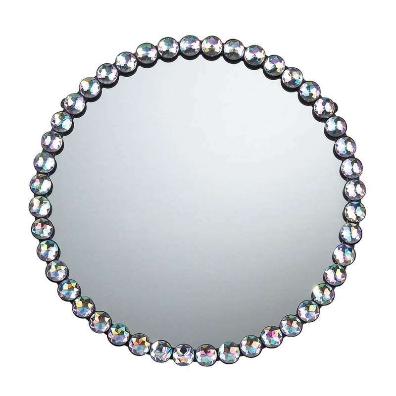 Sterling Jewel Edged Decorative Mirror