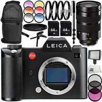 Leica SL (Typ 601) Mirrorless Digital Camera with Leica Vario-Elmarit-SL 24-90mm f/2.8-4 ASPH. Lens 13PC Accessory Bundle – Includes 3 Piece Filter Kit (UV + CPL + FLD) + MORE