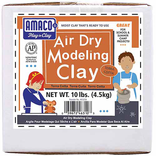 Amaco Air Dry Modeling Clay, 10 lbs., Terra-Cotta