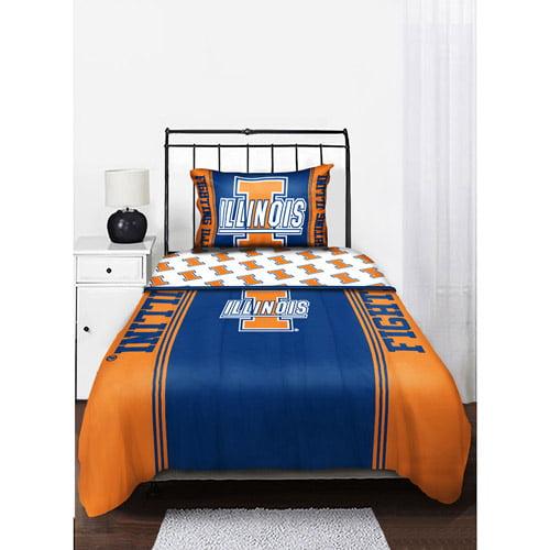 Ncaa Mascot Bedding Comforter, Illinois