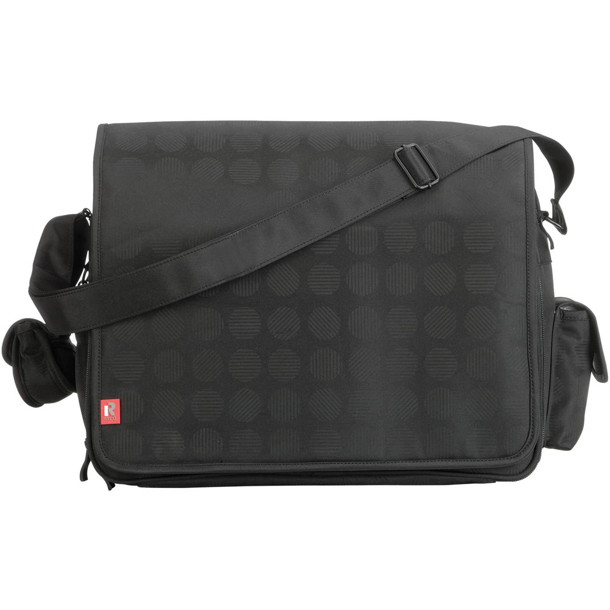 RYCO Stella Everyday Messenger Duffle Diaper Bag, Black