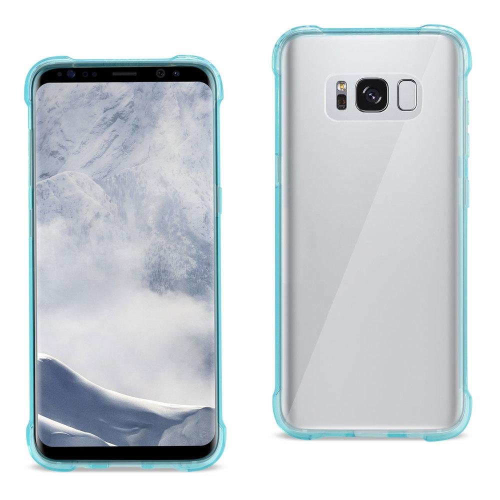 Reiko REIKO SAMSUNG GALAXY S8 EDGE/ S8 PLUS CLEAR BUMPER CASE WITH AIR CUSHION PROTECTION IN CLEAR NAVY