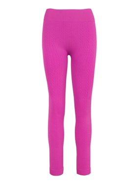 ee9d6d612078c Product Image Ladies Cable Knit Fleece Leggings
