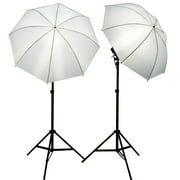 ePhoto 2 Video Photography Studio Continuous Lighting Kits Two FREE 45w 5500k Day Light Fluorescent Photo Light Bulbs by ePhoto INC