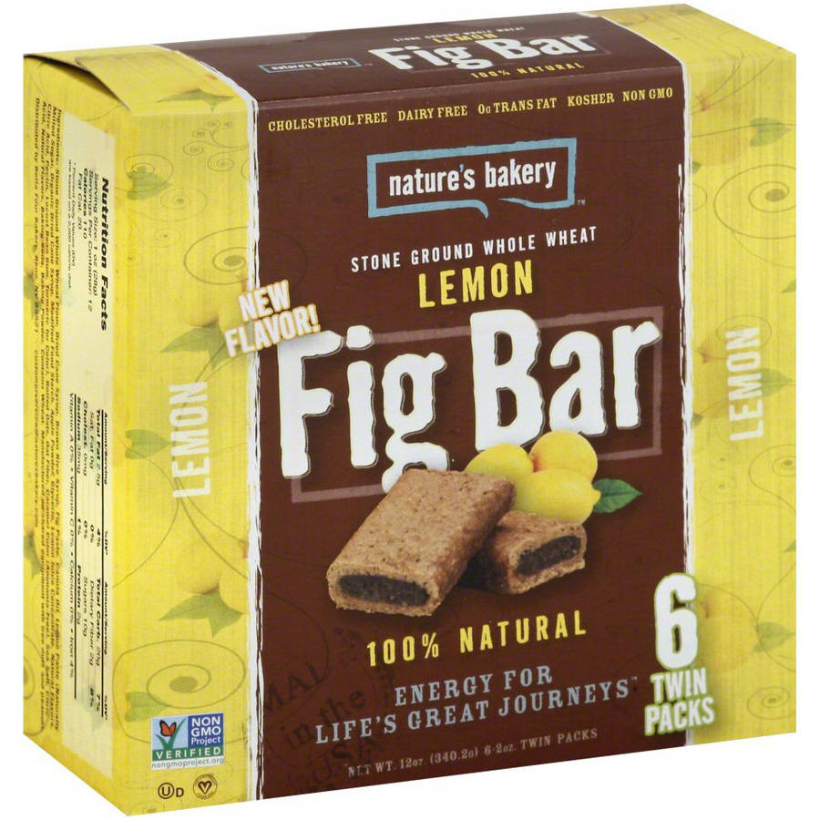 Nature's Bakery Fig Bar, Lemon, 2g Protein, 6 Ct
